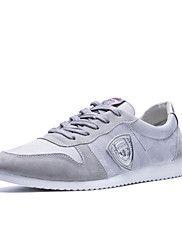 Da+uomo-Sneakers-Tempo+libero+Casual-Suole+leggere+Comoda-Piatto-Tessuto-Nero+Grigio+Blu+scuro+–+EUR+€+46.08