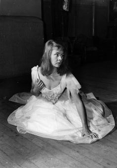 a very young Dame Judi Dench as Ophelia (1957) in Hamlet at the Old Vic. London