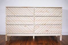 Ikea Dresser Makeover, Ikea Nightstand, Furniture Makeover, Diy Furniture Flip, Ikea Furniture Hacks, Furniture Design, Ikea Side Table, Modern Side Table, Ikea Drawers