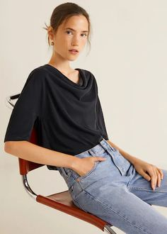 Discover the latest trends in Mango fashion, footwear and accessories. Shop the best outfits for this season at our online store. T Shirts, Tees, Clothes 2019, Draped Fabric, Mango Fashion, Short Tops, Fashion Online, Latest Trends, Cool Outfits
