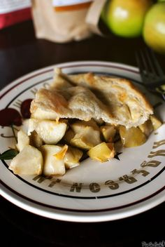 Cheddar Apple Pie with homemade puff pastry