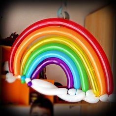 Arcobaleno. Sculture di palloncini. Balloons sculptures. Party idea. Idee festa bambini. Rainbow.