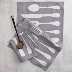 Flatware Tea Towels off westelm.com - love the colors and retro styling.