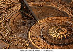 old copper sundial