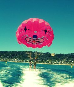 Parasailing? it LOOKS like it might be fun...but...I'm scared of falling and drowning so it's a no-go for me.