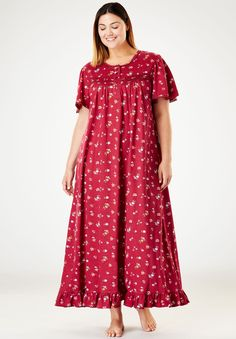 Plus Size Sleepwear & Nightgowns for Women Night Wear Dress, Night Dress For Women, Dress Shirts For Women, Night Gown, Clothes For Women, African Fashion Dresses, African Dress, Nightgown Pattern, Cotton Gowns