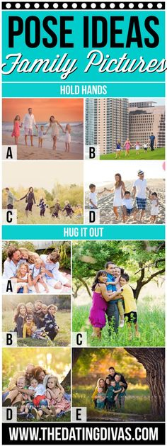 Pose Ideas for Family Pictures