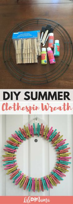 I decided to try out an adorable clothespin wreath and discovered they are SO easy! Check out this tutorial on making your own vibrant summer wreath!