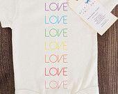 Amour bébé, fille, garçon, unisexe, nourrisson, tout-petits, nouveau-né, organique, Fair Trade, anniversaire, Body, tenue, One Piece, Onesie