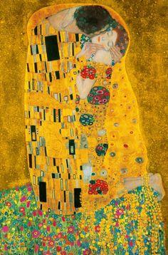 foto van Gustav Klimt - De kus