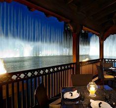 Delicious Thai dinner, with the dancing Dubai fountains as a backdrop!