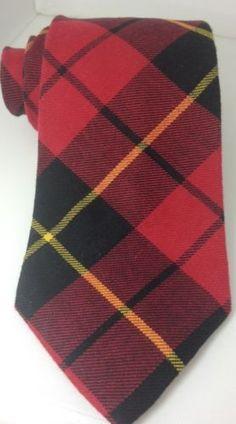 GAP-100-Cotton-Red-Black-Yellow-Plaid-Mens-Necktie-4-1-2x60-NWOT