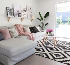 Ashley Patterson at Giving Tree Realty Cosy Lounge, Lounge Decor, Living Room Furniture, Living Room Decor, Living Spaces, My Home Design, House Design, Minimal Decor, Home Hacks