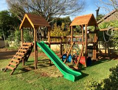 The jungle gym in it's new spot eagerly awaiting children to come and play :-)