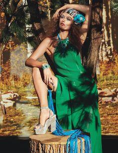 W June/July 2015 Photographer: Roe Ethridge Stylist: Giovanna Battaglia Model: Edita Vilkeviciute