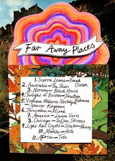 Rookie Magazine Friday Playlist: Far Away Places Sound Of Music, Music Is Life, New Music, Music Music, One Song Workouts, Workout Songs, Music Mood, Mood Songs, Song List