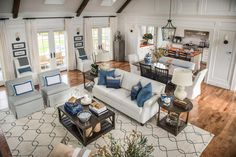 HGTV Dream Home 2015: Great Room  Like the flow from kitchen to dining to great room