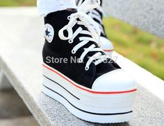 Find More Women's Fashion Sneakers Information about 2015 Fashion Womens High Heeled Sneakers Canvas Elevators White Black High Top Wedges shoes  Casual platform women sneakers,High Quality shoe buckle,China shoe cover making machine Suppliers, Cheap shoe closet from sam's  shoes store (yiwu) on Aliexpress.com