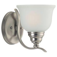1-Light Brushed Nickel Bathroom Vanity