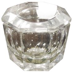 Huge Faceted Alessandro Albrizzi Lucite Ice Bucket