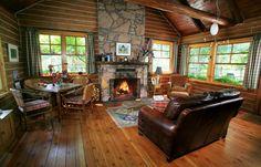 Ketchum Log Cabin Living Room