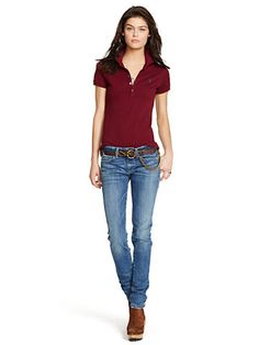 Polo stretch coupe skinny - Pony Classique Chemises Polos - Ralph Lauren  France 4220a7102e6