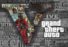 Grand Theft Auto Five illustration By Emre HIZLI art, design, gta v, illustrations