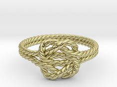 Double love rope ring. You can customize in online.