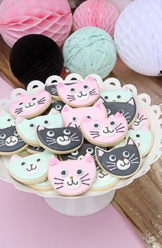 kitty cat birthday party! #Birthdaycookies