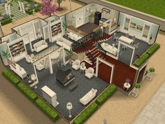 Sims Freeplay house design- French chateau