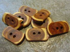 8 Yew Wood Tree Branch Toggle Buttons. by PymatuningCrafts on Etsy, $8.00