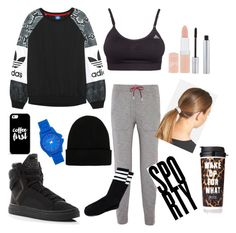 """""""Untitled #3"""" by leeblkhoian ❤ liked on Polyvore featuring adidas Originals, adidas, T By Alexander Wang, NLY Accessories, L. Erickson, T. LeClerc, Rimmel, Vince Camuto, Casetify and Victoria's Secret"""