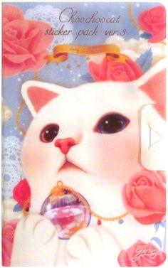 Heavenly!! Jetoy Heaven White Cat 8-Sheet Sticker Portfolio