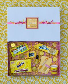 A Little Box of Sunshine    Easy gift to make that will brighten up a friend's day!