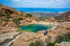 View of the surrounding ocean, Socotra Island, Yemen