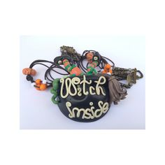 Necklace with Pendant for Woman Fimo: Witch Inside Halloween ~ Bijoux Fashion Jewelry Handmade