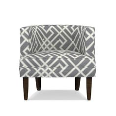 Taking style cues from midcentury club furnishings, Geoffrey combines plush comfort with compact proportions. Tailored piping highlights the pared-do… Grey Velvet Chair, Grey Chair, Yellow Armchair, French Provincial Chair, Vintage Dining Chairs, Chair Leg Floor Protectors, Accent Chairs Under 100, Bedroom Chair, Chair Upholstery