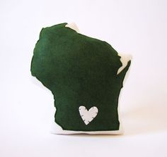 Wisconsin State Pillow by lovecalifornia on Etsy, $54.00