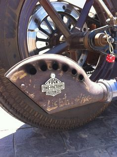 Fossil's rat rod bike the thing this was a school project. who wouldnt want this for shits and giggles. Motos Harley, Harley Bobber, Harley Davidson Chopper, Bobber Chopper, Harley Davidson Motorcycles, Custom Motorcycles, Custom Bikes, American Motorcycles, Motorcycle Exhaust