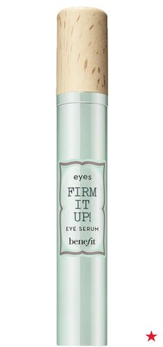 Benefit's amazing mascaras, eyeliners and eyebrow products have transformed your makeup look, so why not take it a step further with their new Firm It Up! Eye Serum? Apply the lightweight formula every morning and night to visibly brighten and tighten the delicate skin around your eyes. Long-term moisture keeps your skin feeling fresh, smooth and soft. Plus, your gorgeous eye makeup will look even better than ever!