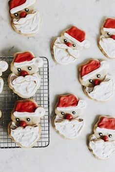 cute santa cookies - theme | holidays - christmas - inspiration - idea - ideas - decoration