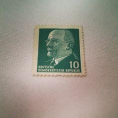 10 Pfennig Briefmarke zeigt Walter Ulbricht. #ddrmuseum