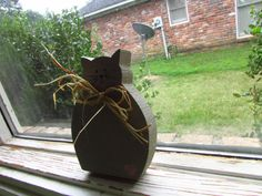 cute wooden cat decor by craftyoyster on Etsy, $2.50