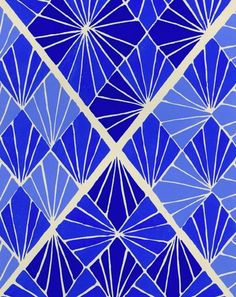 bold blue pattern by Sonia Delaunay
