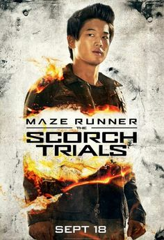 Minho's new poster for the Scorch Trials >>> this is Minho's fabulousness at its finest