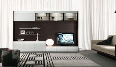 Contemporary tv Wall Units For Living Room