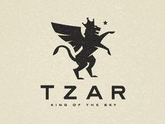 TZAR King of the Sky—brand for Igor Zaripov. Cirque du Soleil performer Design by Scott Hill.