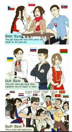 Slavic counties explained See more Funny pictures Be sure to share this post with your friends on social media before you go. Haha Funny, Funny Jokes, Hilarious, Hetalia, Russian Memes, Me Anime, History Memes, Country Art, Best Funny Pictures