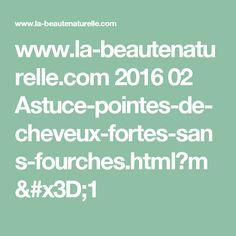 www.la-beautenaturelle.com 2016 02 Astuce-pointes-de-cheveux-fortes-sans-fourches.html?m=1