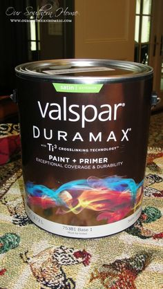 Painting Outdoor Furniture {Thrift Store Find} valspar Outdoor paint with primer